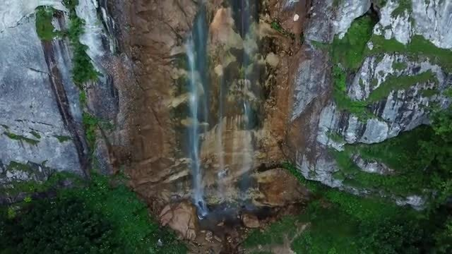 Waterfall Aerial: Stock Video