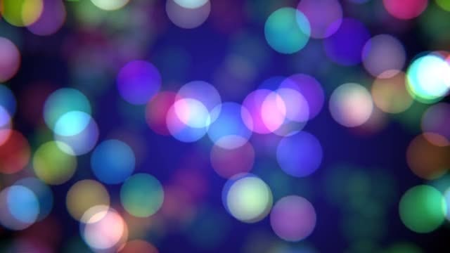 Colorful Bokeh Bubbles: Stock Motion Graphics