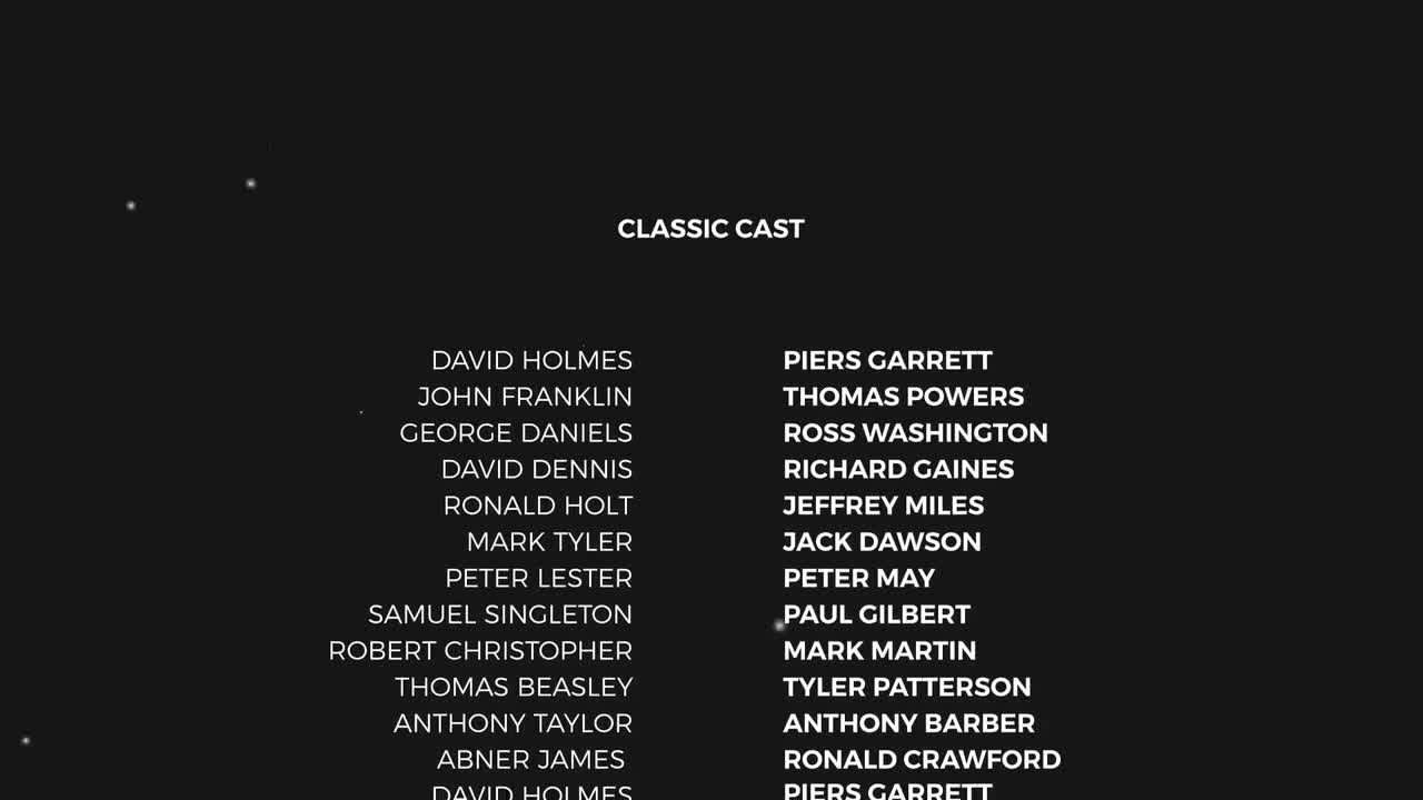 film credits template after effects free download