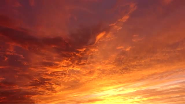 Heavenly Golden Sunset Timelapse: Stock Video