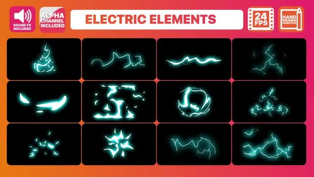 Electric Elements Pack: After Effects Templates