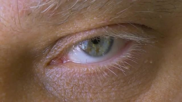 Close-up Of A Man's Eye: Stock Video
