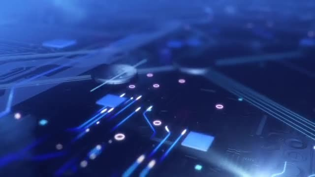 Dark Circuitry Loop: Stock Motion Graphics