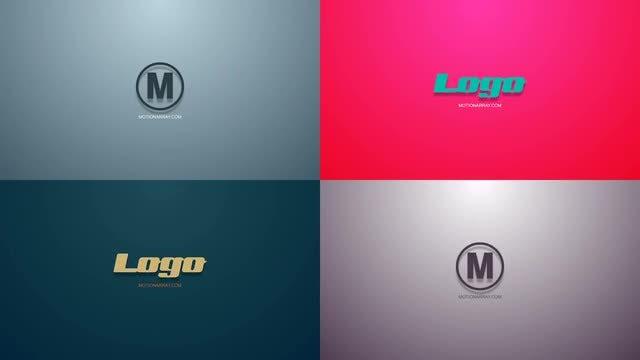Simple shapes logo reveal: Premiere Pro Templates