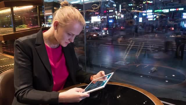 Cinemagraph Of Woman Using Tablet: Stock Video