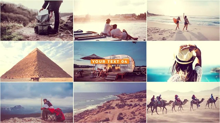Travel Slideshow: After Effects Templates