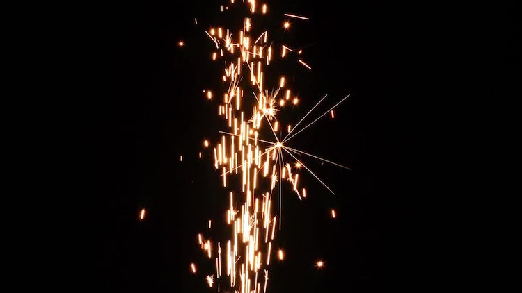 Sparks From Fireworks 7: Stock Video