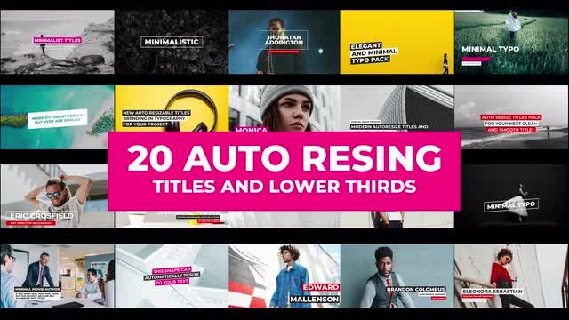20 Auto Resizing Titles and Lower Thirds: Motion Graphics Templates
