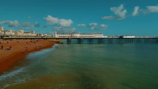 The Coast of Brighton, England, UK: Stock Video