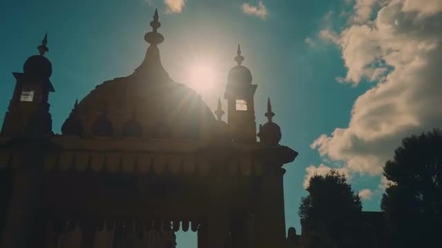 Royal Pavilion Palace In Brighton: Stock Video