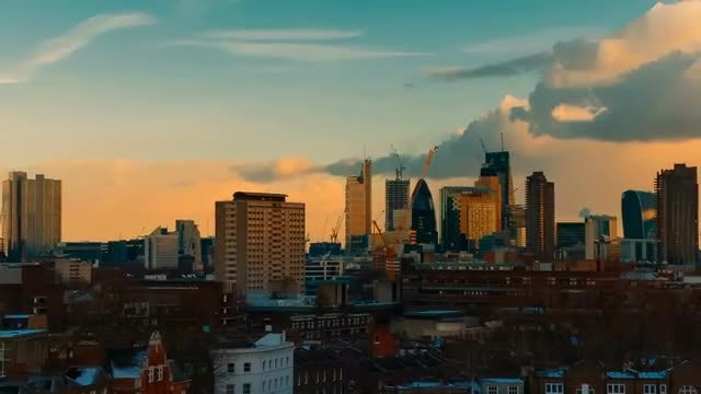 City Skyline View Of London: Stock Video