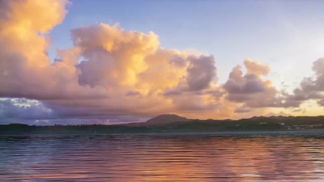 Sunset Sea And Landscape: Stock Motion Graphics