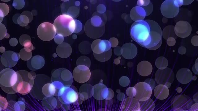 Blue-Purple Bokeh Particles Pack: Stock Motion Graphics