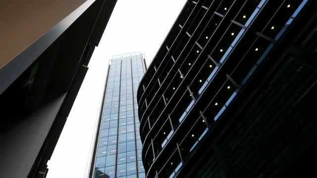 Skyscrapers In London, England, UK: Stock Video