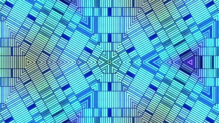 Blue Geometric Disco Background: Stock Motion Graphics