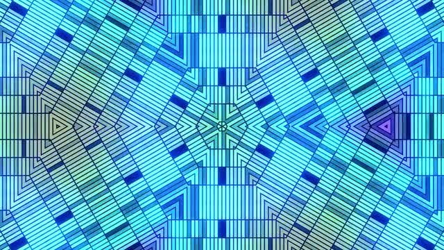 Blue Geometric Disco Background: Stock Motion Graphics