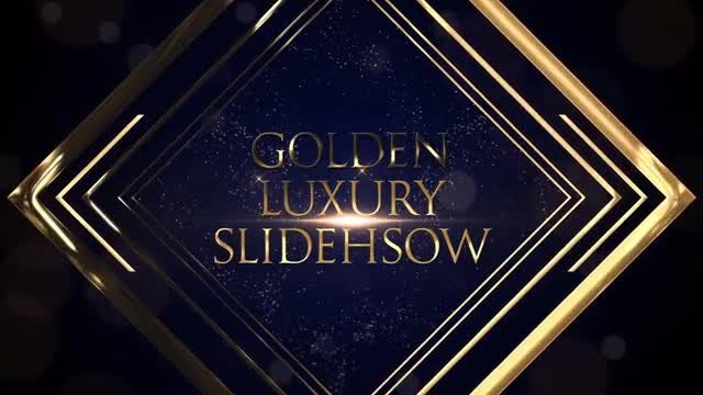 Golden Luxury Slideshow: Premiere Pro Templates