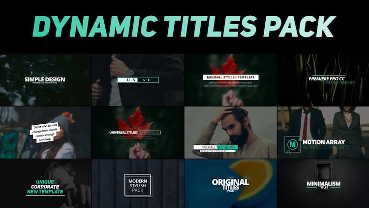 Dynamic Titles Pack: Premiere Pro Templates
