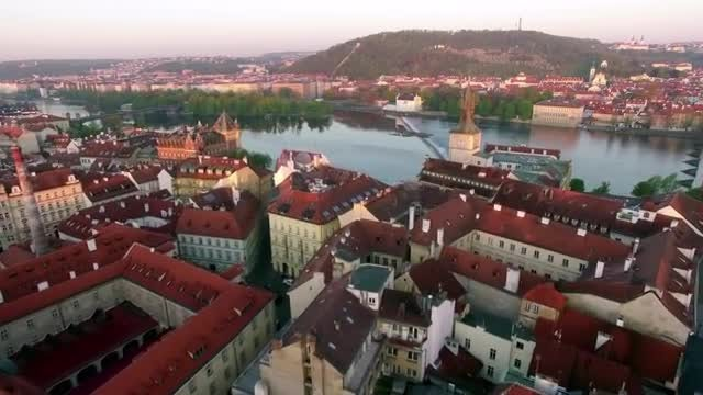 Bird's Eye View Of Prague: Stock Video