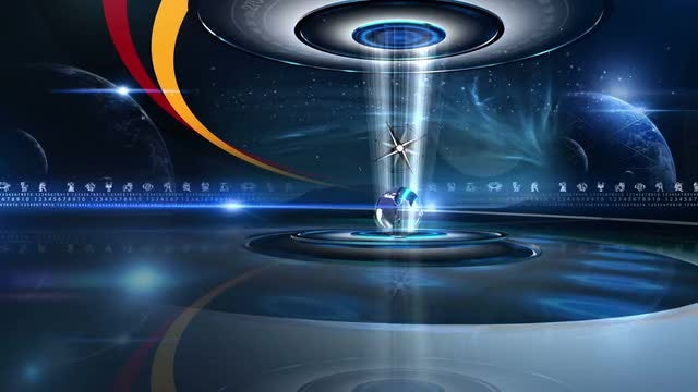 Compass Hologram Astrology Background: Stock Motion Graphics