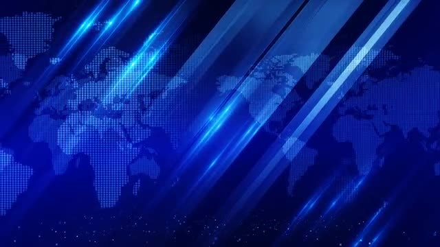 Blue World Map Background: Stock Motion Graphics