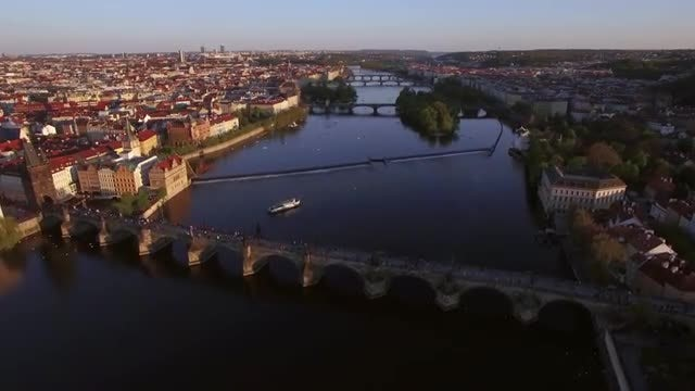 Vltava River In Prague: Stock Video