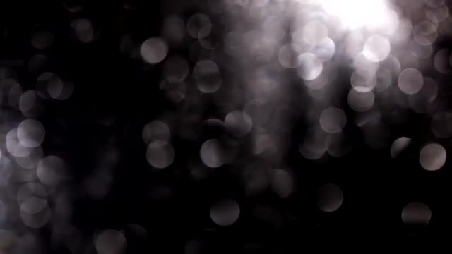 Bokeh Of Raindrops On Window: Stock Video