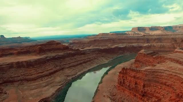 Aerial - The Canyonlands And Colorado River: Stock Video