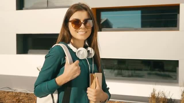 Medium Shot Of Female Student: Stock Video