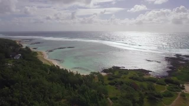Mauritius Coast And Indian Ocean: Stock Video