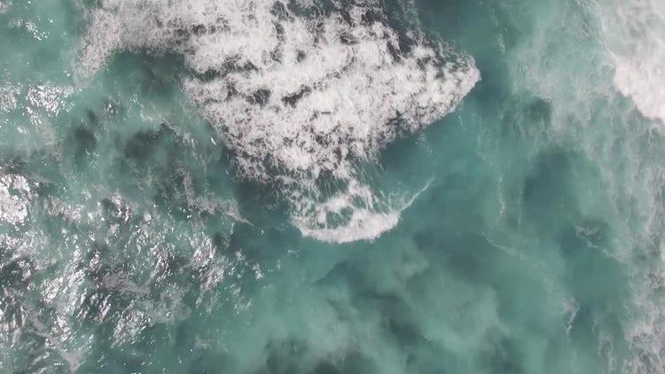 Aerial Shot Of Turbulent Ocean: Stock Video