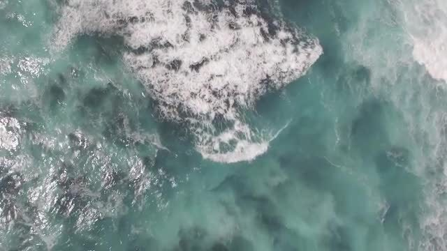 Aerial Shot Of Turbulent Ocean: Stock Video