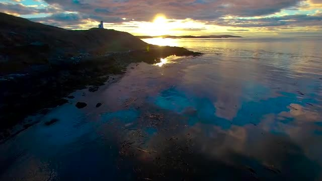 Aerial Of Pacific Northwest Island: Stock Video