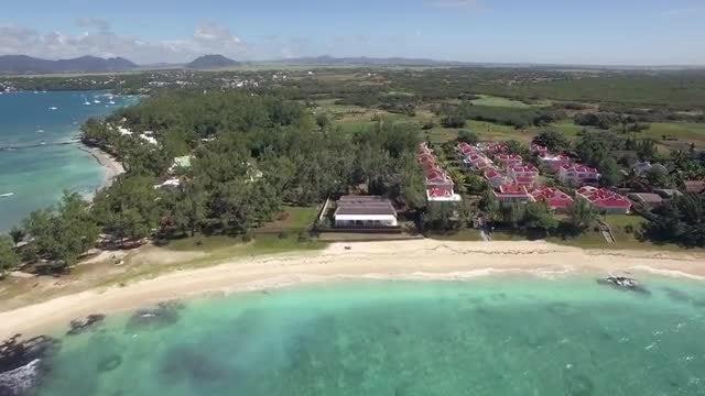 Mauritius Coastal Line: Stock Video
