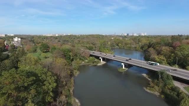 Vehicles Driving On Long Bridge : Stock Video