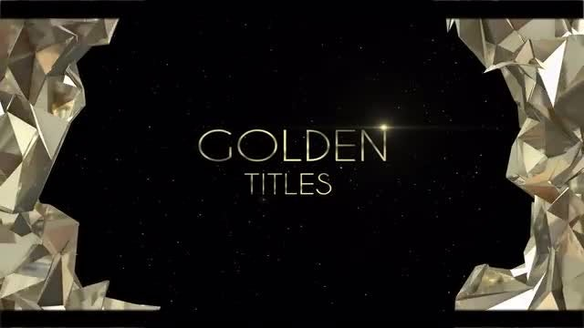 Titles Gold & Black: After Effects Templates