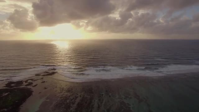 Picturesque Seascape At Golden Sunset: Stock Video