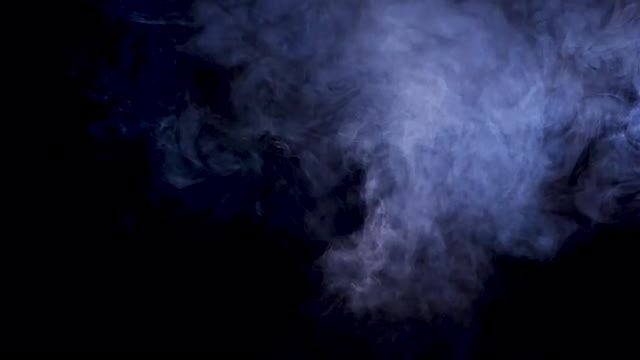 Wisps Of Smoke Over Black: Stock Video