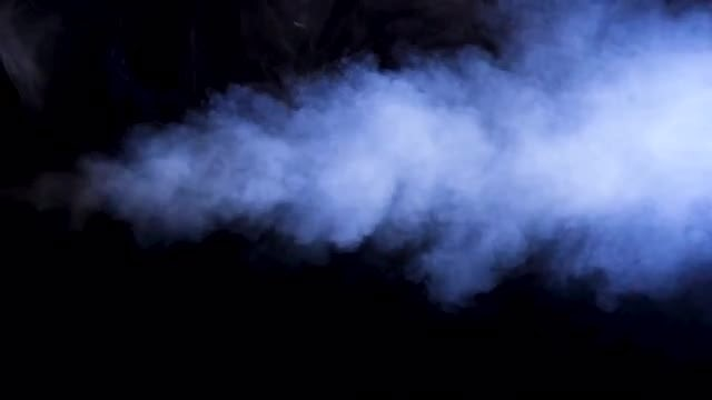 Stream Of Blue Smoke: Stock Video