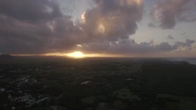 Mauritius Island At Sunset: Stock Video