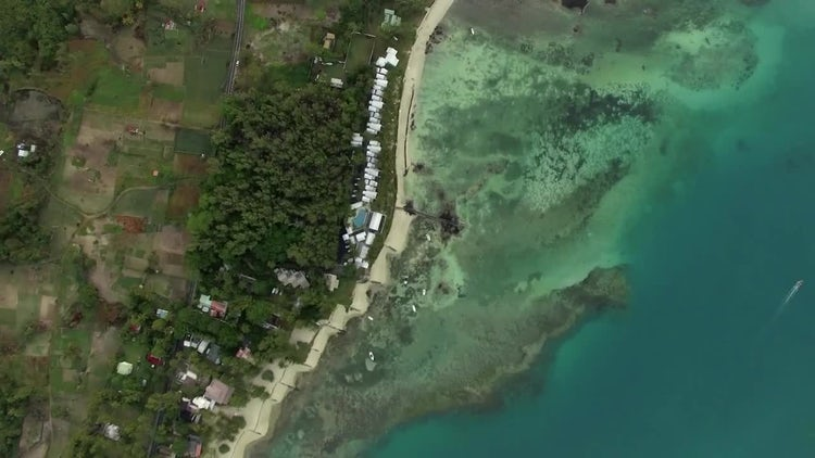 Aerial View Of Sandy Beach: Stock Video