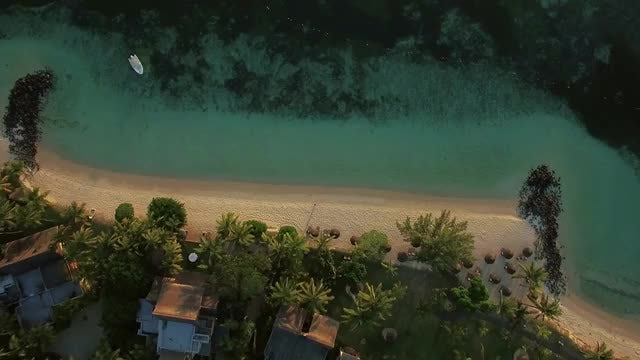 Aerial Shot Of Beautiful Beach: Stock Video