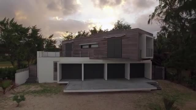Modern Beach House In Mauritius Stock Video