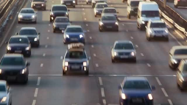 Time Lapse Of Busy Highway: Stock Video