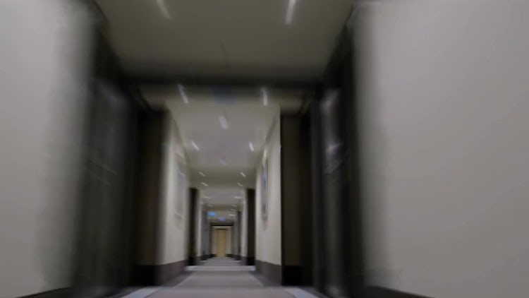 Hyper Lapse Of Hotel Passage : Stock Video