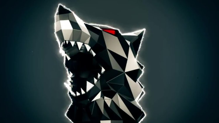 Low Poly Wolf Howling Loop: Stock Motion Graphics