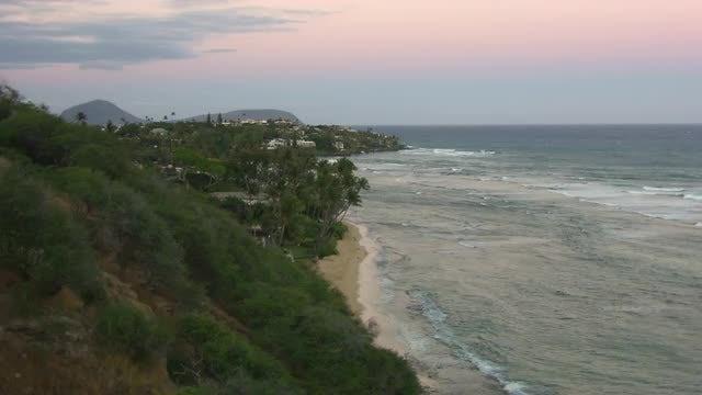 Wide Shot Of Beautiful Coastline : Stock Video