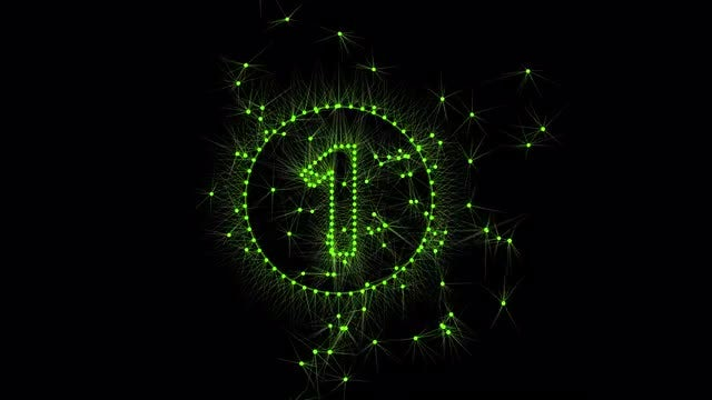 Green Dot Lights Countdown : Stock Motion Graphics