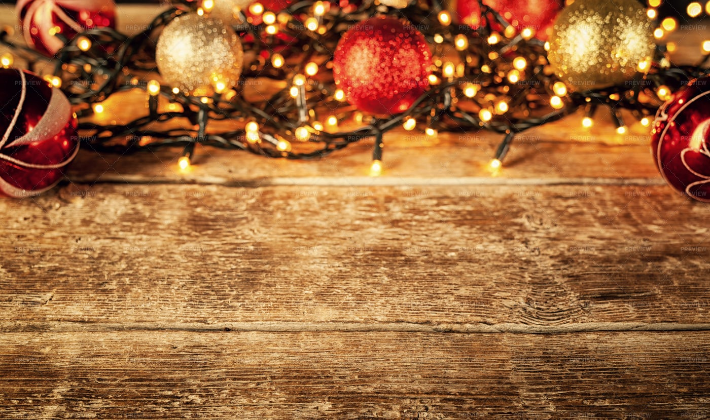 Christmas Decorations With Copy Space: Stock Photos