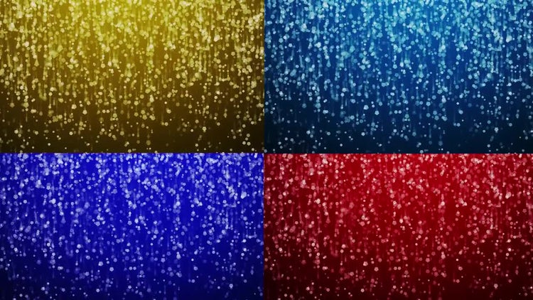 Sparkling Colored Rain Pack: Stock Motion Graphics